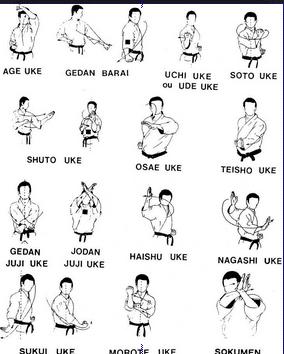 Uke / Tangkisan atau Elakan Karate