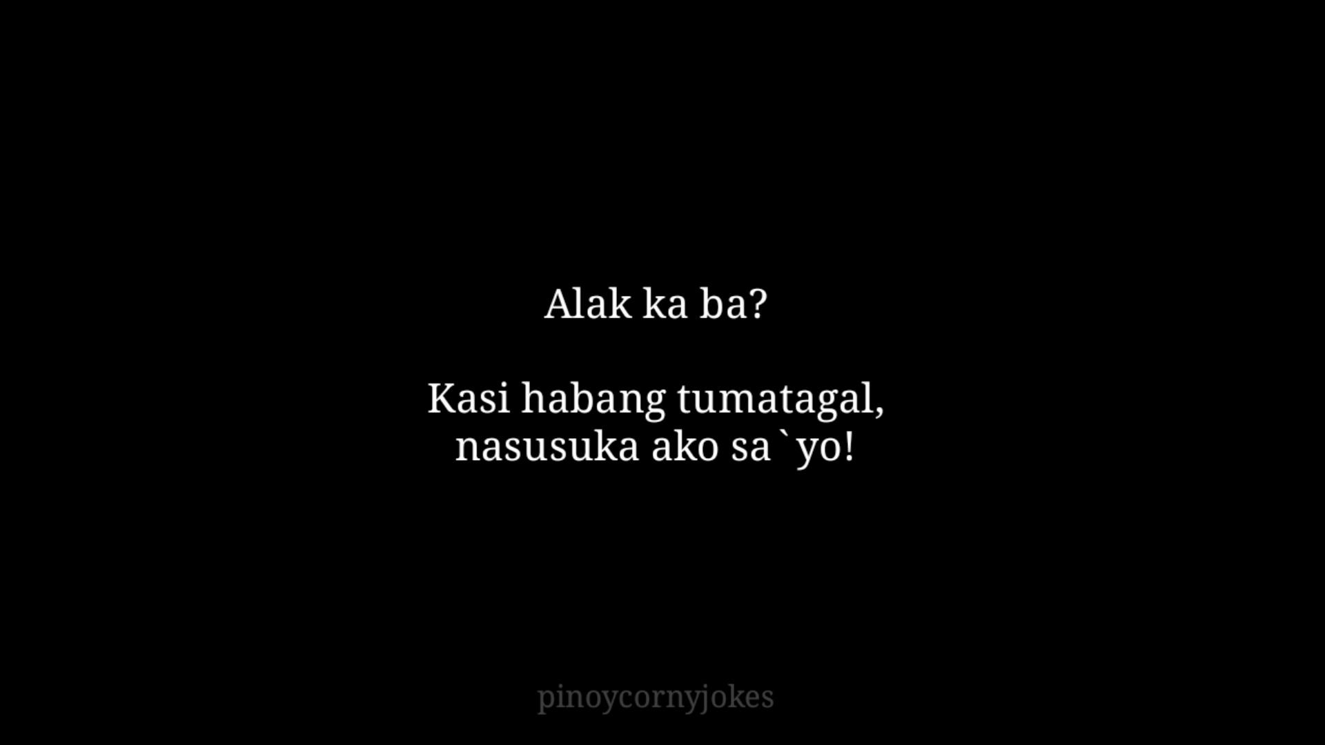 Alak Tagalog Pick Up Lines 2021