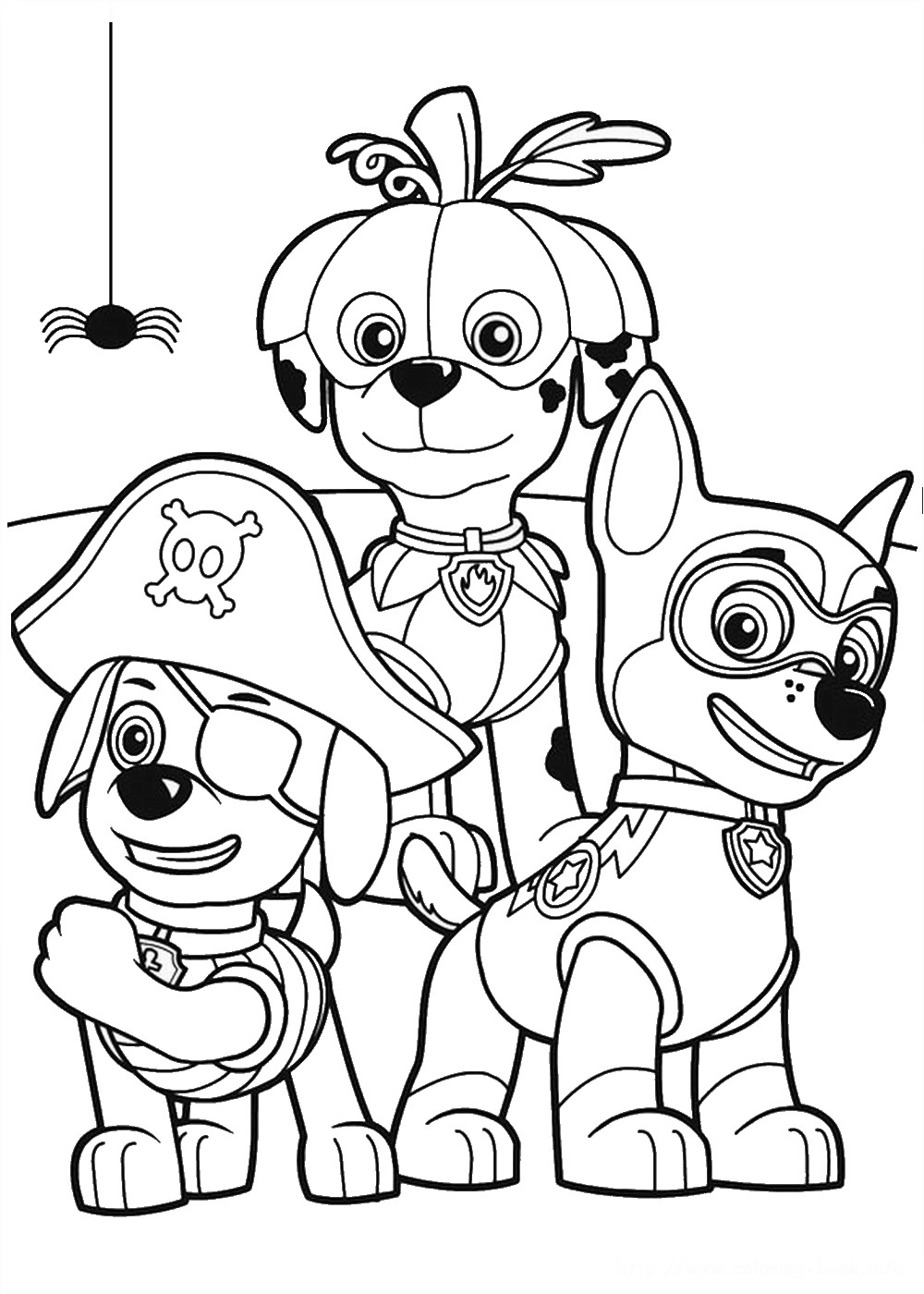 all paw patrol coloring pages