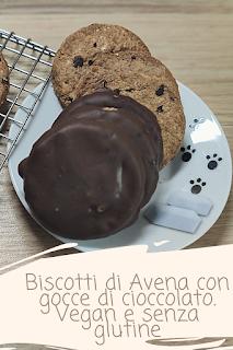 biscotti avena gocce cioccolato vegan gluten-fre