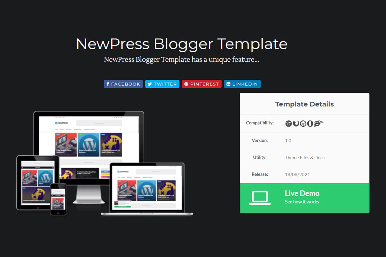 newspress blog template