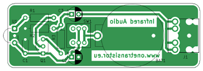 PCB of soundcard infrared receiver