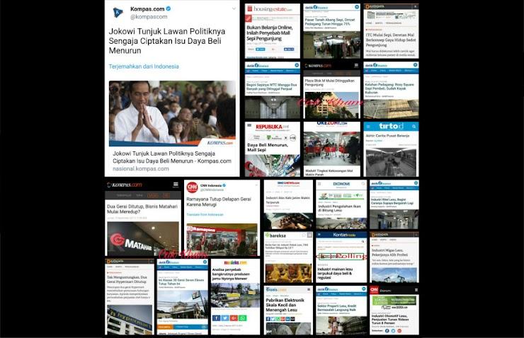 Jokowi Sebut Lawan Politik Sengaja Isukan Daya Beli Rendah, Netizen Tunjukkan Seabreg Bukti ini