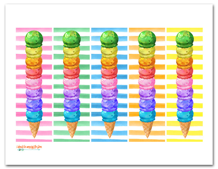 Ice Cream Bookmarks