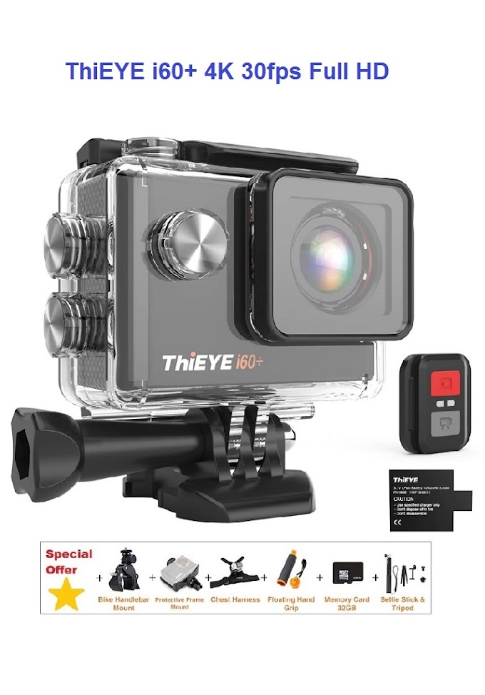 ThiEYE i60+ 4K 30fps Full HD WiFi Remote Control Action Camera 60M Waterproof Sports video Camera