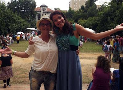 Rita Branco do blog o Porto encanta e Clara Haddad do festival um Porto de Contos