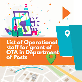 List of Operation staff for grant of OTA in India Post