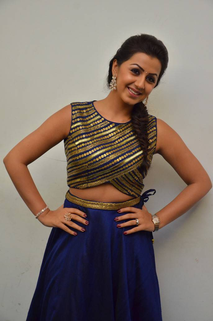 Nikki Galrani At Maragadha Naanayam Thanks Meet Gallery