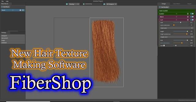 New Hair Texture Creating Software : FiberShop