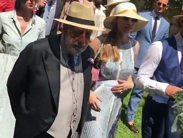Beatrice Borromeo wore Luisa Beccaria Dress from Spring-Summer 2017. Lucilla Bonaccorsi and Filippo Richeri Vivaldi Pasqua wedding