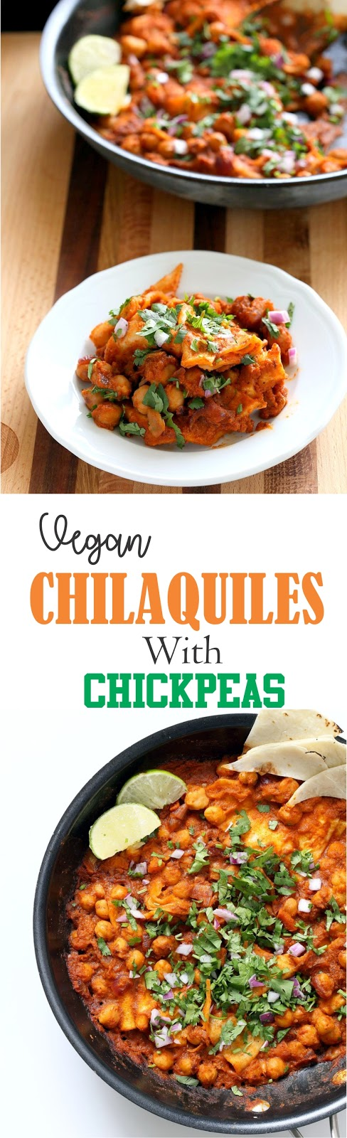 Vegan Chilaquiles with Chickpeas