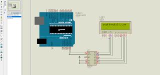 Arduino, Simulasi I2c LCD Proteus