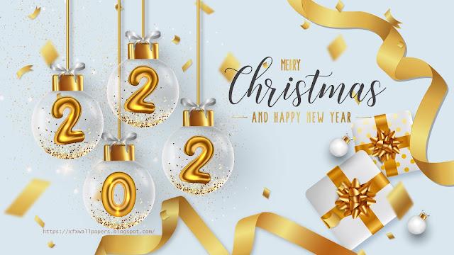 Wallpaper beautiful happy new year 2022