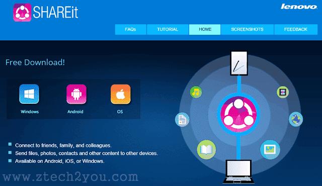 قم بنقل ملفاتك من خلال تطبيق شير ات SHAREit لنقل ومشاركة الملفات: