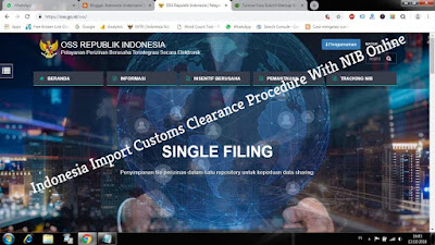 Indonesia Import custom clearance procedure with Nomor Induk Berusaha (NIB)