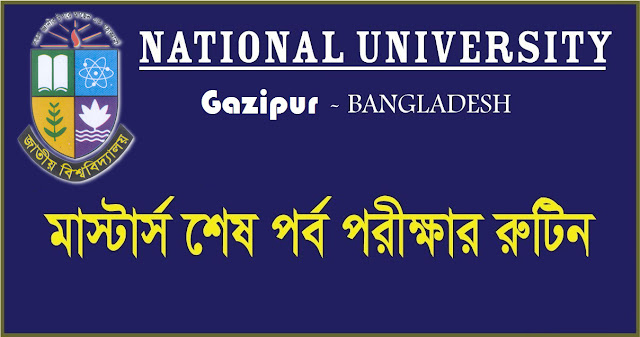 Masters Final Year Exam Routine 2018 nu.edu.bd