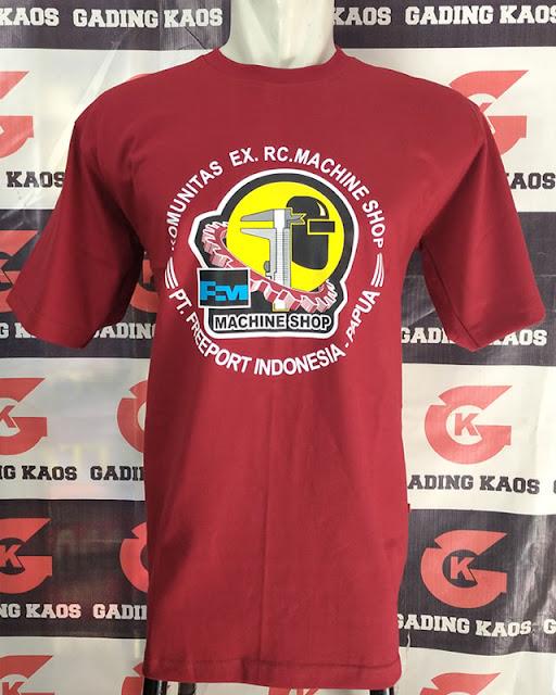 Kaos merah marun oblong combed 24s