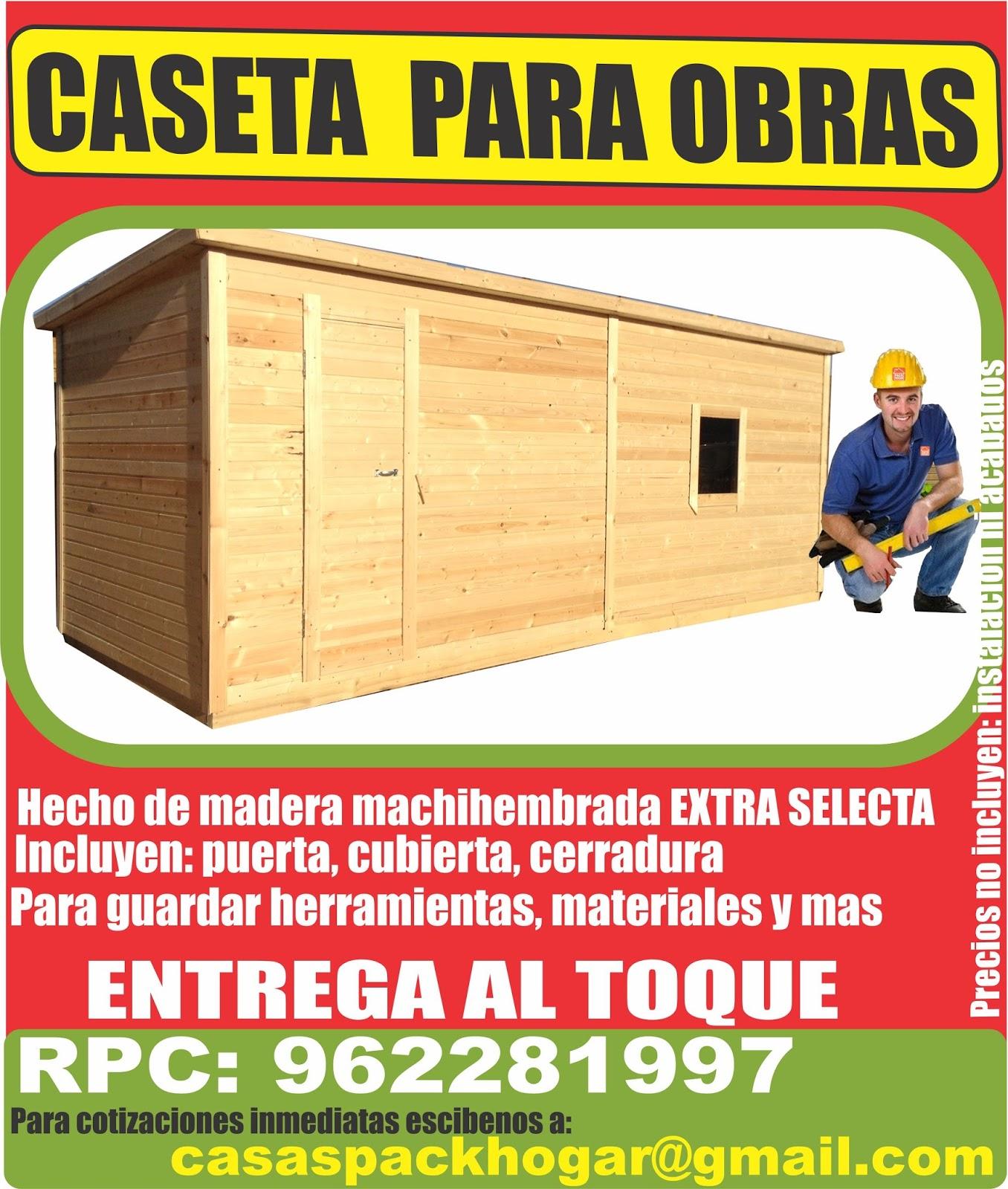 Casetas de obra para almac n for Caseta de herramientas