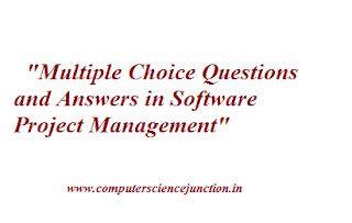 multiple choice questions in Software Project management