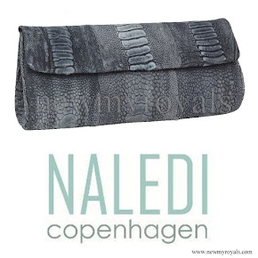 Crown Princess Mary Style NALEDI Copenhagen Brushed Clutch