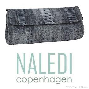 Crown Princess Mary Style NALEDI Copenhagen Brushed Clutch