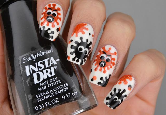 Coronavirus Halloween Nail Art