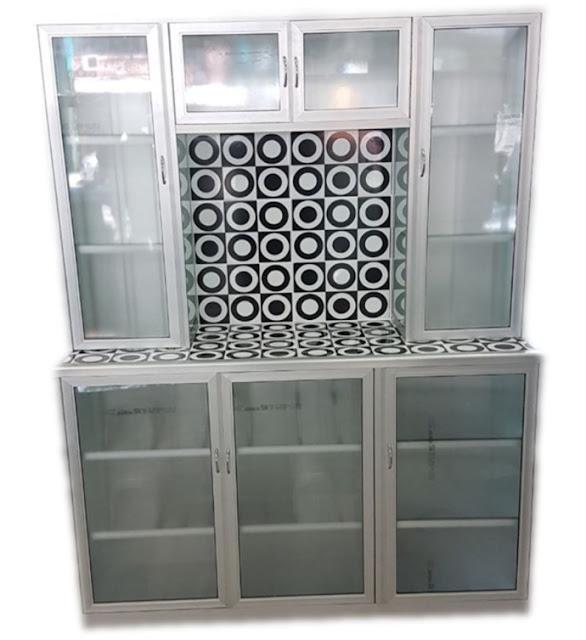 model rak piring kaca modern terbaru