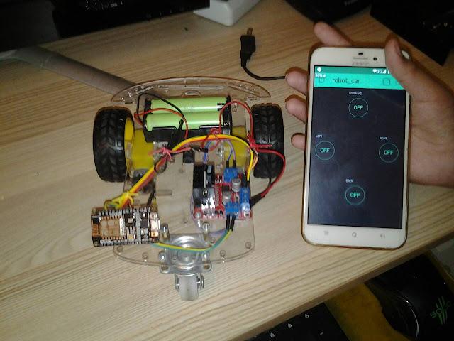 โปรเจค หุ่นยนต์ ESP8266 NodeMCU V2 ควบคุมด้วย แอพ Blynk
