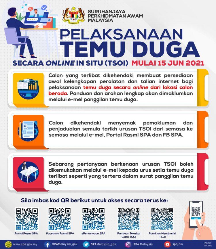 Panduan Temuduga SPA Secara Online In Situ (TSOI) 2021