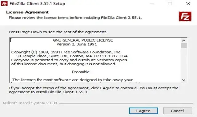 The first step is to install FileZilla