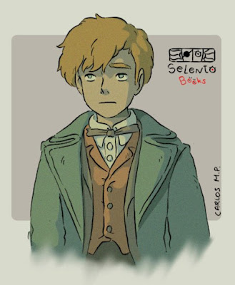 FANART BY SELENTO BOOKS Newt Scamander Animales Fantásticos (J.K. Rowling) (19 diciembre 2018)