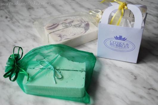Corks and Bubbles Soaps (and a Giveaway)