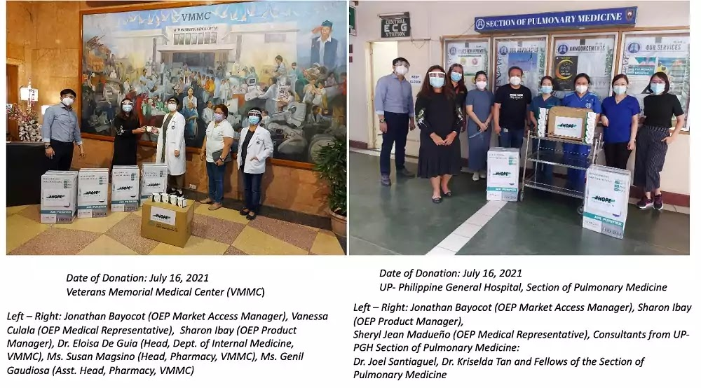 Orient Euro Pharma Donation to VMMC and PGH