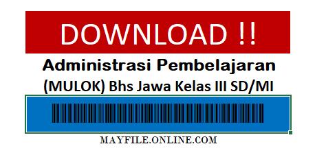 Download Administrasi K13 Lengkap Mulok Bahasa Jawa Kelas 3 SD/MI
