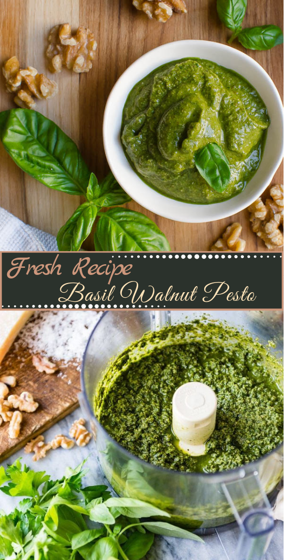 Basil Walnut Pesto #vegan #vegetarian #soup #breakfast #lunch