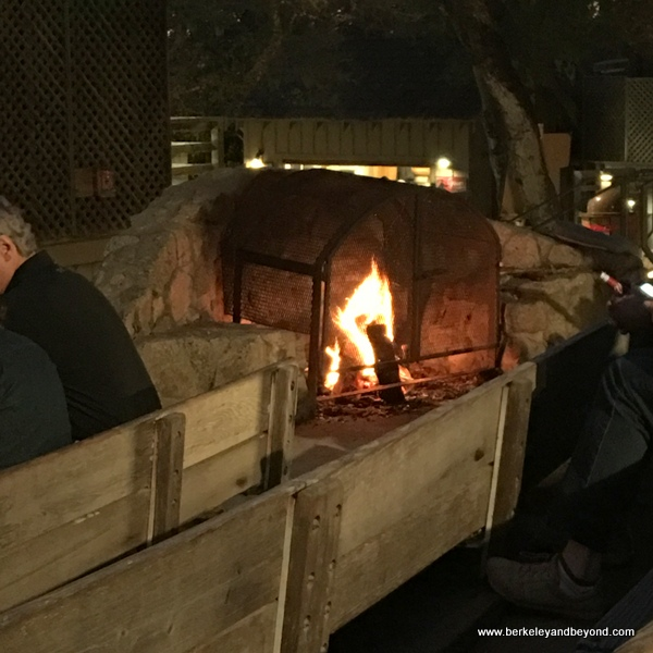 fireplace at Outdoor Forest Theater in Carmel, California