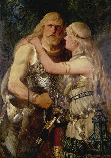 Arminio y su esposa Thusnelda