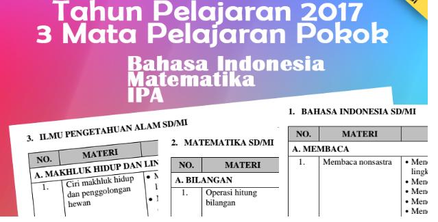 POS Ujian Sekolah SD/MI Tahun 2017 Rilis Terbaru