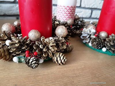 świąteczne świeczniki