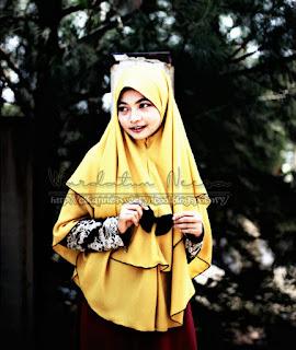 Khimar kuning ayu dan cantik