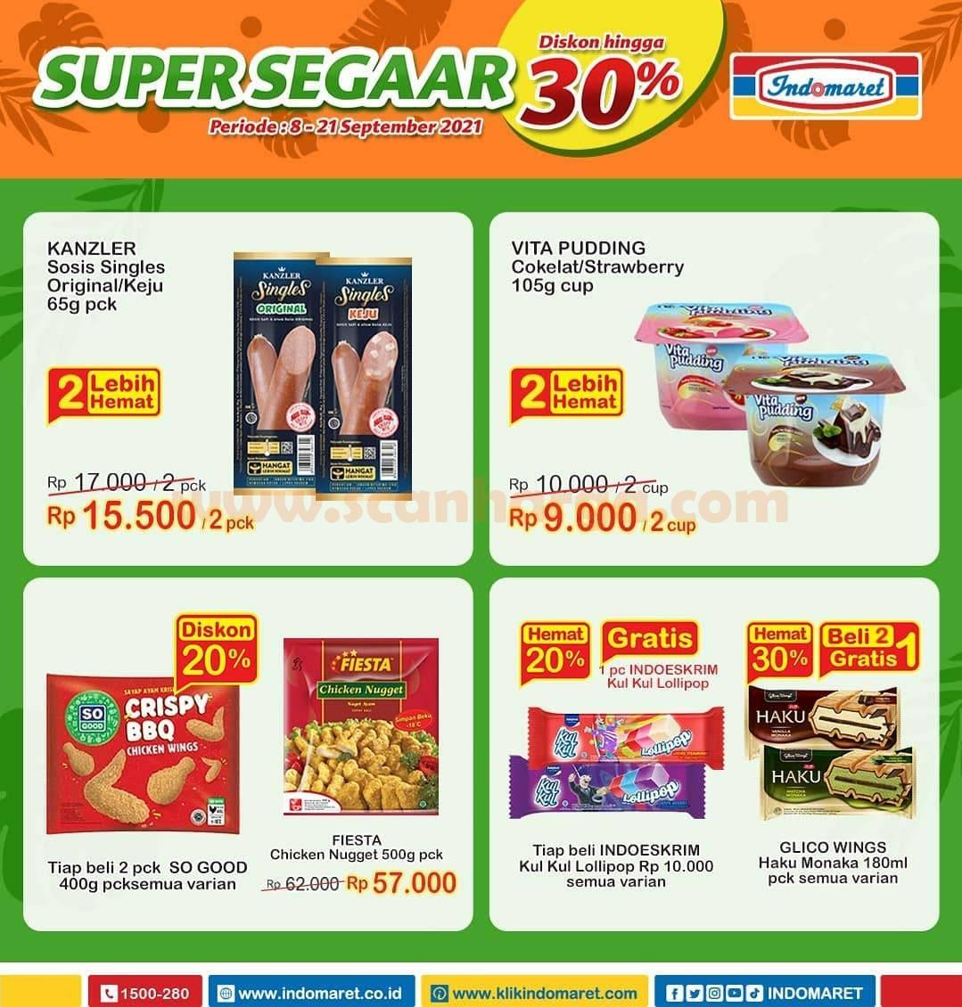 Promo INDOMARET Produk SUPER SEGAAR Periode 8 - 21 September 2021 2