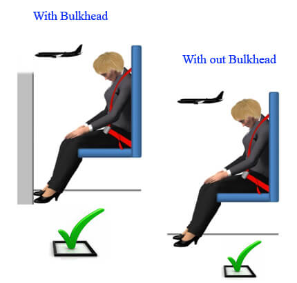 Brace position in forward-facing cabin crew seats