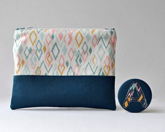 Learn how to make a zippered pouch. Tutorial by Sew for Soul