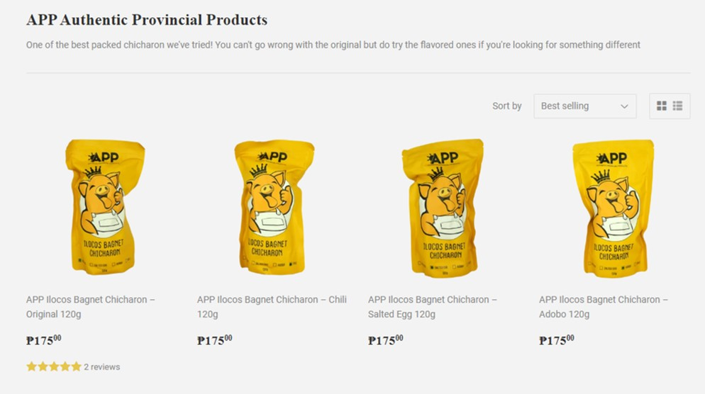 APP Authentic Provincial Food Products bagnet chicharon for sale at Foodsource PH