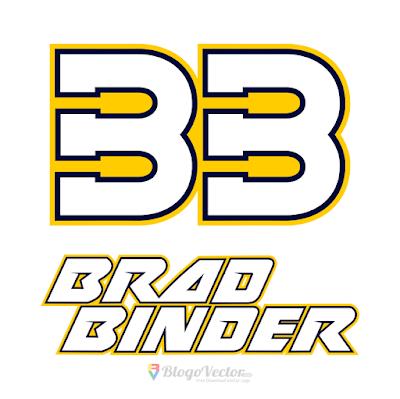 Brad Binder #33 Logo Vector