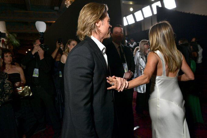Top 10 Interesting Tweets About Brad Pitt and Jennifer Aniston at the SAG awards