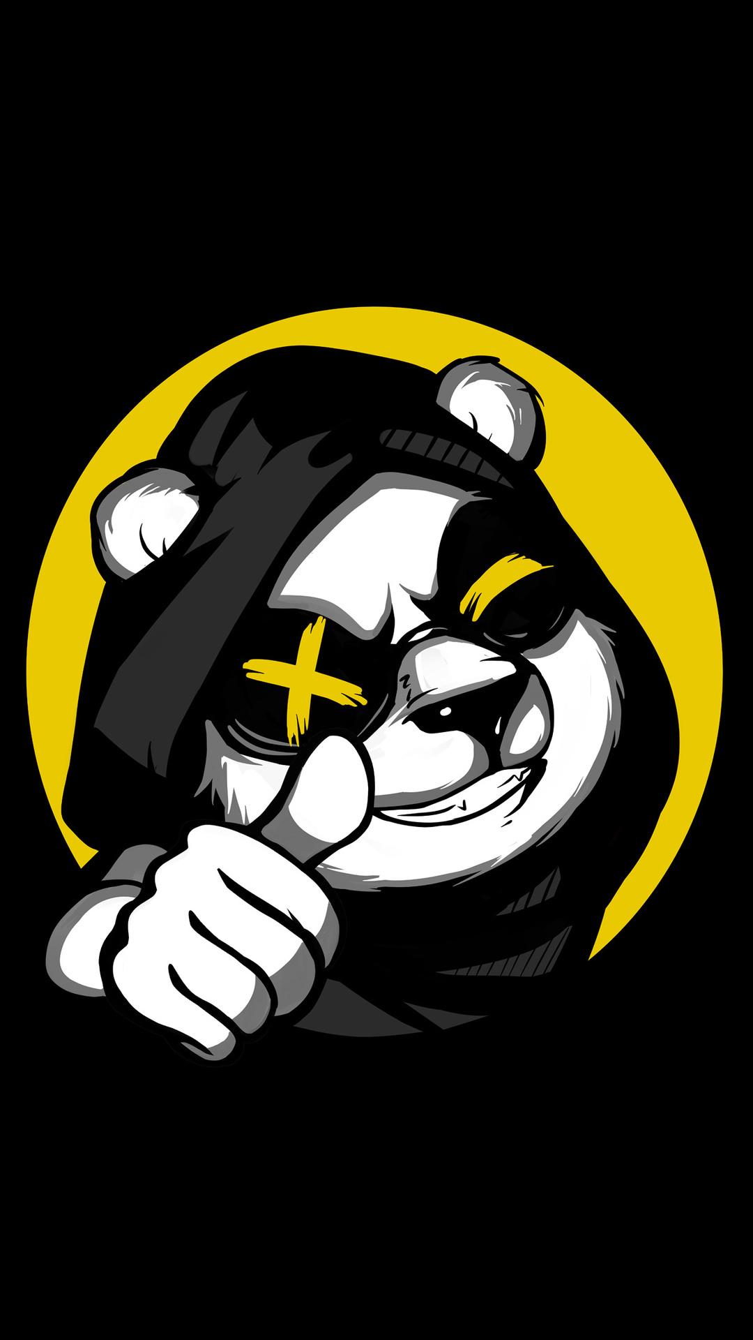 Minimal Cool Panda Thumb Up Wallpaper