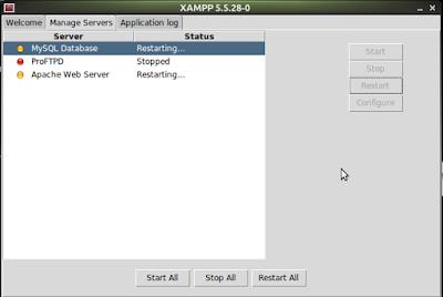 restart xampp di linux