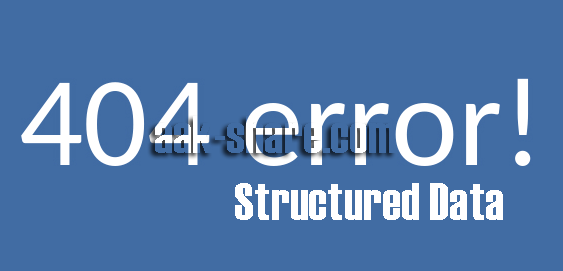 Mengatasi Error Data Terstruktur Pada Webmaster Tools