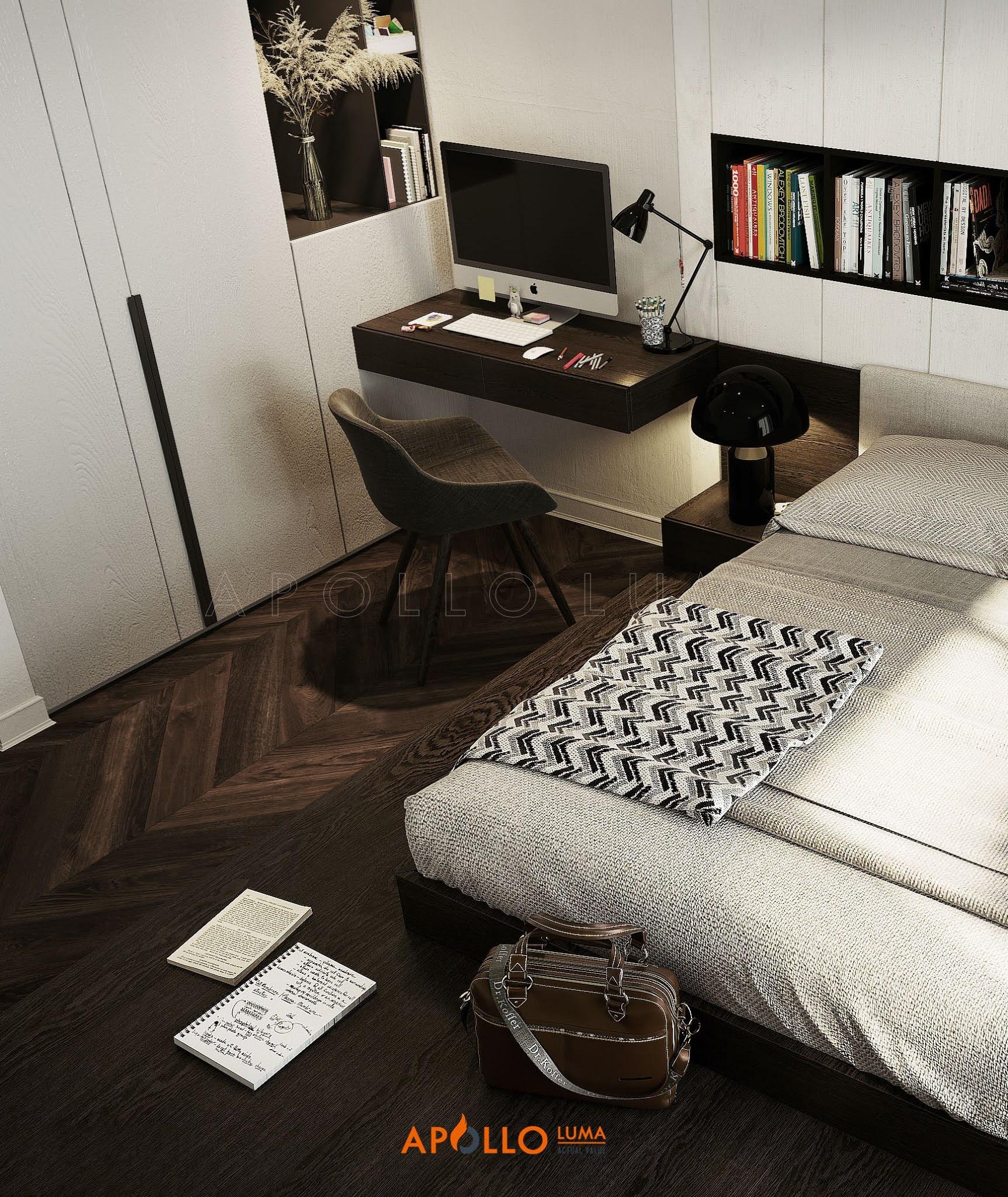 Thiết kế nội thất căn hộ 4PN (149m2) Vinhomes SkyLake Phạm Hùng
